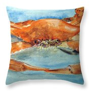 Snow Crab Is Ready Throw Pillow