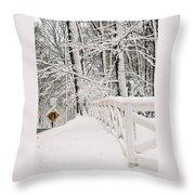 Snow Curve Throw Pillow