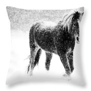 Snow Dance Throw Pillow by Mark Courage