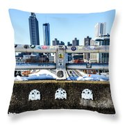 Snow Day In The A Throw Pillow