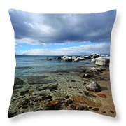 Snow Day On Her Shore Throw Pillow