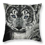 Snow Dragon Leopard Throw Pillow