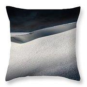 Snow Drift On The Beach Throw Pillow