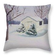 Snow Drifts Throw Pillow