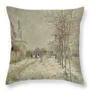 Snow Effect Throw Pillow