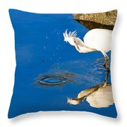 Snowy Egret 6 Throw Pillow