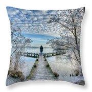 Snow Fantasy Throw Pillow