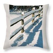 Snow Fence Throw Pillow