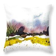 Snow Field Throw Pillow