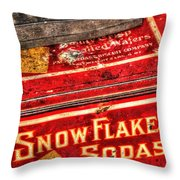 Snow Flake Sodas 767 Throw Pillow