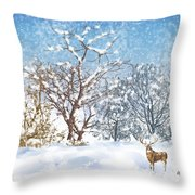 Snow Flurry Throw Pillow by Arline Wagner
