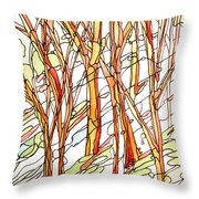 Snow Forest #1 Throw Pillow