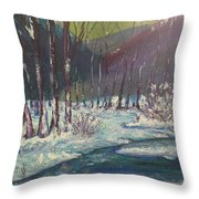 Snow Forest Throw Pillow
