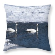 Snow Geese On The Move Throw Pillow