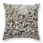 Snow Geese Rising Throw Pillow