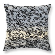 Snow Geese Spring Migration Throw Pillow