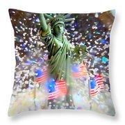 Snow Globe Liberty Throw Pillow