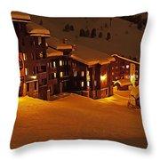 Snow Glow Throw Pillow