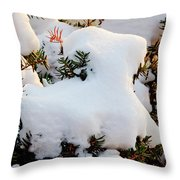 Snow Goat Throw Pillow