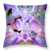 Snow Goose Moon Throw Pillow