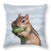 Snow Grape Throw Pillow