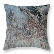 Snow Grass Happiness Throw Pillow