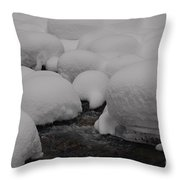 Snow Hats Throw Pillow