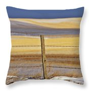 Snow Hills Saskatchewan Throw Pillow