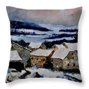 Snow In Ardennes 79 Throw Pillow