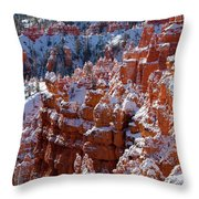Snow In Bryce Canyon Throw Pillow