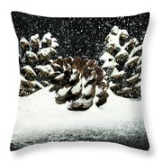 Snow In June Throw Pillow