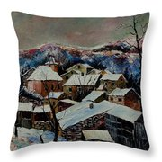 Snow In Laforet 78 Throw Pillow