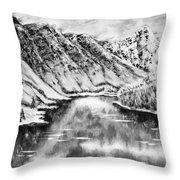 Snow In November Black And White Throw Pillow