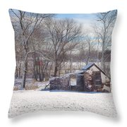 Snow In Plymouth Meeting Throw Pillow