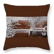 Snow In Santa Fe New Mexico Throw Pillow