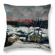 Snow In Sechery Redu Throw Pillow