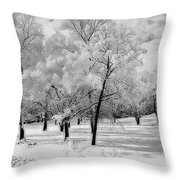 Snow In South Park Throw Pillow