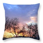 Snow In The Distance Throw Pillow