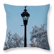 Snow In The Low-country Throw Pillow