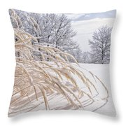 Snow Laden Throw Pillow