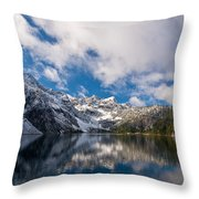 Snow Lake Vista Throw Pillow