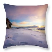 Snow Landscape Throw Pillow