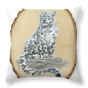 Snow Leopard - Renewed Perception Throw Pillow