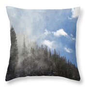 Snow Lift Throw Pillow