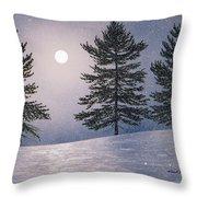 Snow Light Throw Pillow