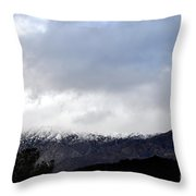 Snow Line Throw Pillow