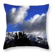 Snow Line In Socal Throw Pillow