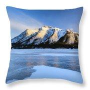 Snow Line Throw Pillow