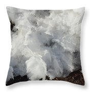 Snow Melting Shapes Throw Pillow