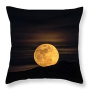 Snow Moon Rising  Throw Pillow
